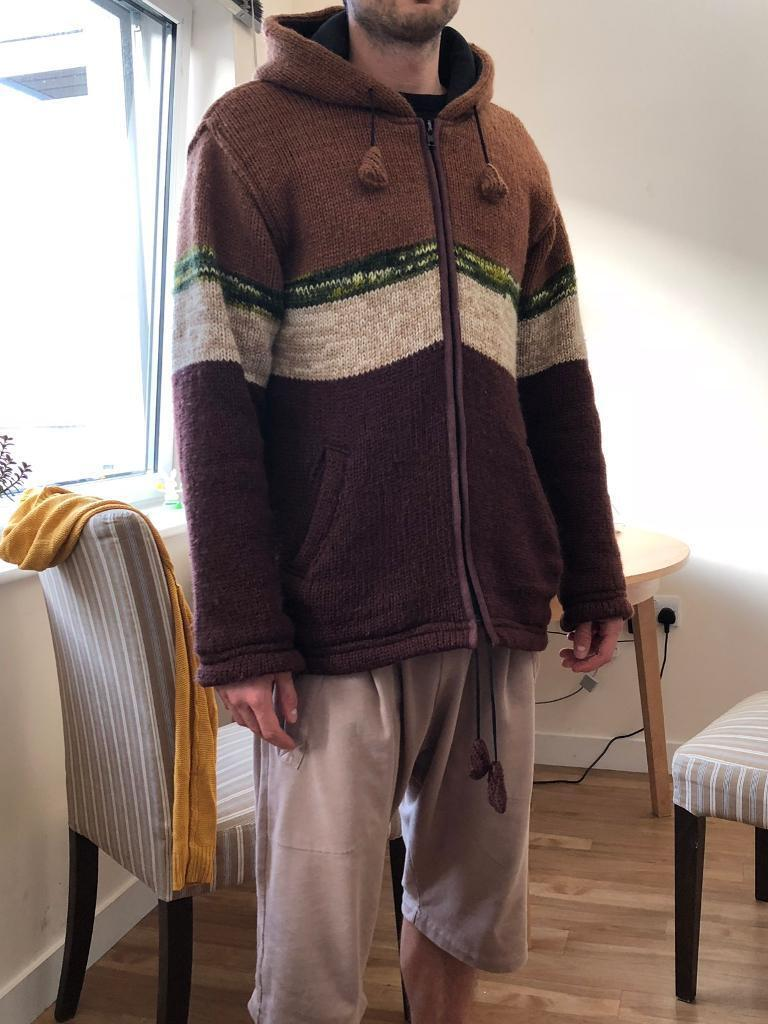 Winter All Weather Jacket 100 Wool Made In Nepal Size L In