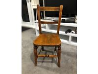Old Wooden Childs Chair