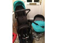 Icandy pram package with car seat