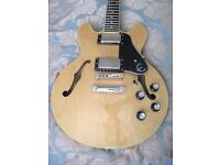 EPIPHONE ES ,BLOND AND IN GREAT CONDITION,NO OFFERS