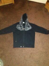 Carbrini zipped hoodie