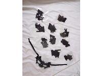 11 Black lace bat face masks.