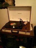 Antique Vagabond portable record player