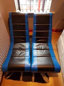 2 X KIDS CHAIRS FOR USE WILST PLAYING XBOX OR PLAY STATION.