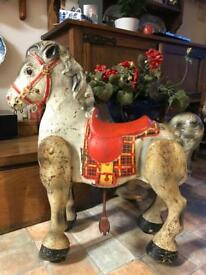Vintage 1950's MOBO pedal moving horse childrens toy