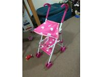 toy stroller, little tikes pink rocking horse, floor puzzle