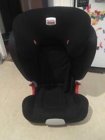 Britax top of the range car seat. Exc cond. purchased mothercare never been in accident.