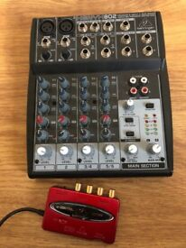 Behringer XENYX 802 Mixer & UCA222 Interface