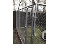 Dog run / cage 10 feet by 10 feet chainlink with gate