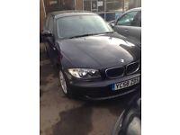 BMW 1 Series, 4 door, 1.6 Petrol. Black
