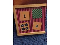 Wooden matching toy