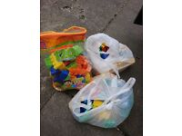 Three bags of duplo large lego 15.00