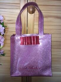 Ted Baker pink glitter tote bag