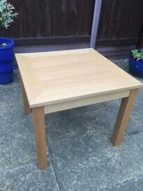 Square Oak Veneer Coffee / Side Table