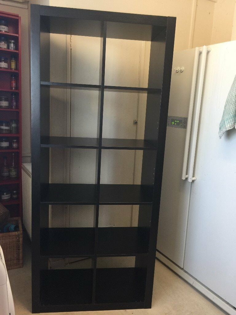 ikea expedit 2x5 shelving unit black brown | in burnham, berkshire