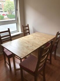 Dining table and chairs solid wood ikea