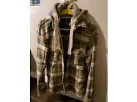 Super dry lumber jack shirt with hood