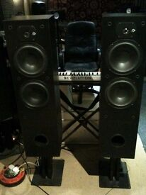 SDA 2.8 Reference Speakers. With Heavy duty Target Stands.