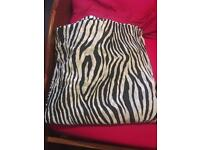 Zebra print curtains with tie backs