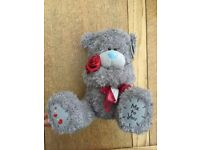 Brand new with tag, Me to You Bear Teddy, Tatty Teddy, holding 3 satin red roses on stems, 11""