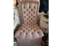 ELEGANT FRENCH CHAIR IN SALMON PINK COLOUR.