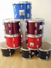BARGAIN COLLECTION OF EIGHT TOMS ((DRUMS)