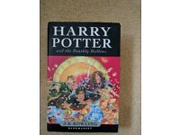 Harry Potter and the Deathly Hallows First Edition hardbound by J K Rowling