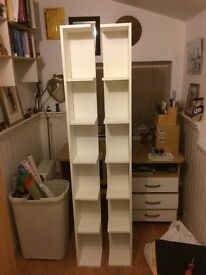 TWO Corner Shelves - Ikea End unit LILLÅNGEN in White - MUST GO THIS WEEKEND!