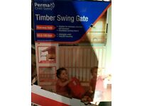 Safety wooden swing gate. Brand new.