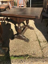 antique solid wood dining table - extendable