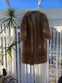 full length fox fur with hood