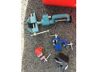 Various workbench/table clamps vice