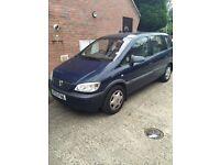 Blue Vauxhall Zafira. Urgent Sale