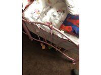Girls pink single beds