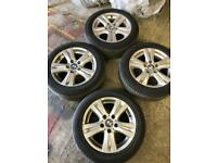 "16"" 5 stud Bmw Alloys set of 4 with tyres 1 series 3 series"
