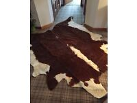 Stunning large cow hide rug