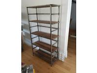 Stylish custom made industrial book shelf