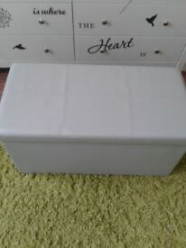 Grey padded storage box/seat