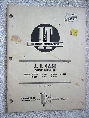 It J.i. Case 200b 300 300b 350 Tractor Shop Manual