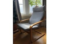 Ikea Poang Rocking Chair in Birch / Light Grey - Must Go!