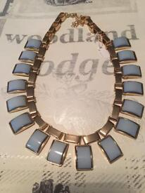 Chunky blue necklace £6