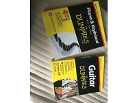 Piano, keyboard and Guitar for dummies set.