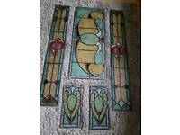 Stained glass door surround