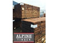 Brown Pressure Treated Timber Posts