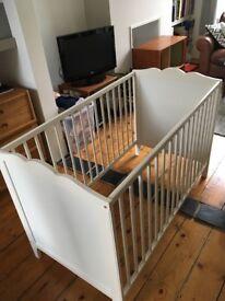 Ikea cot white VGC
