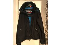 Superdry blue and black jacket used couple times
