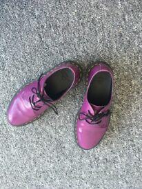 Dr Martens Purple Patent Shoes Size 3