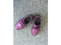 Dr Martens Purple Patent Shoes Size 3