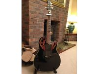 Ovation Celebrity CC 44 S, Electro Acoustic guitar. In high gloss black.