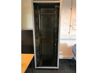 Tall Computer Server Cabinet with glass door